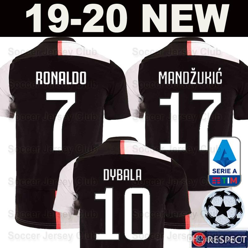 detailed look 24152 5c77e 2019 2020 RONALDO Juventus soccer jerseys 19 20 DYBALA MANDZUKIC Champions  JUVE EA Sports men kids maglia da calcio football shirt camiseta