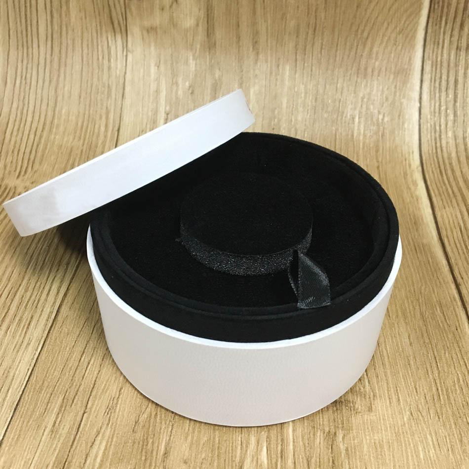 252ec48f6c Compre 12 Cm * 6 Cm De Papel De Embalagem Caixa Redonda Jóias Anel De  Exibição Pulseira Brincos Caixa De Presente De Veludo Compatível Com Jóias  Diy Pandora ...