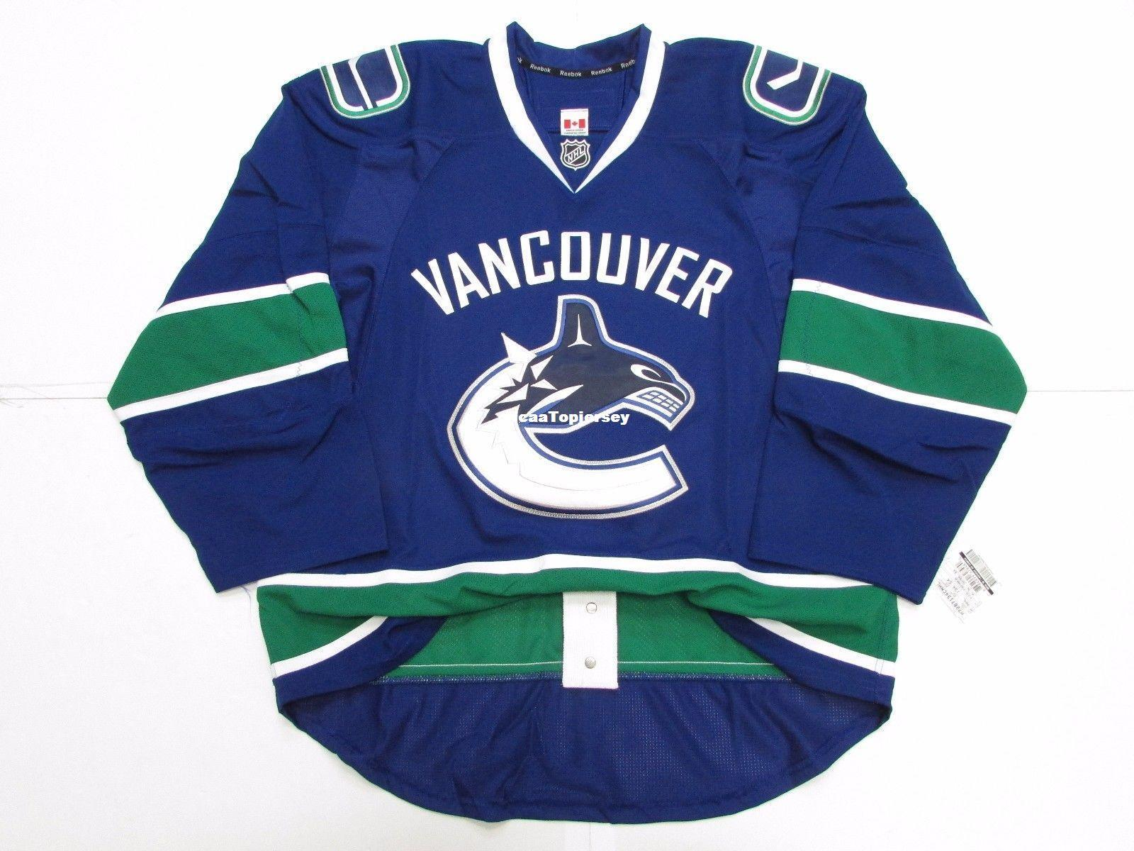 Cheap Custom VANCOUVER CANUCKS HOME TEAM ISSUED JERSEY Stitch Add ... 6acc6f382