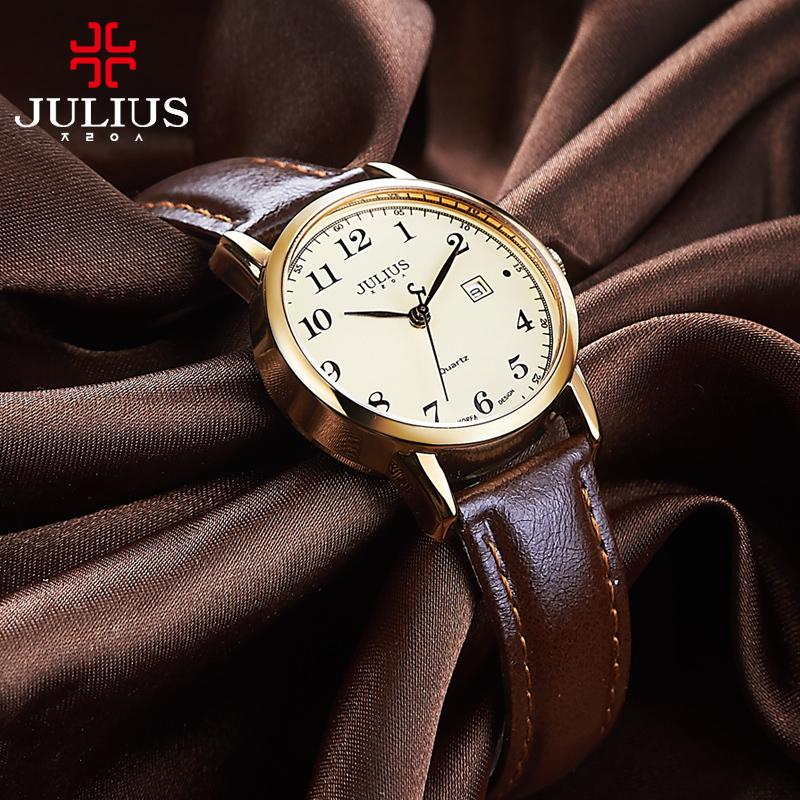 a05d7b3addbe Top Julius Women S Watch Japan Quartz Hours Auto Date Fine Fashion Woman  Clock Real Leather Strap Girl S Retro Birthday Gift Box C19010301 Wrist  Watchs Best ...