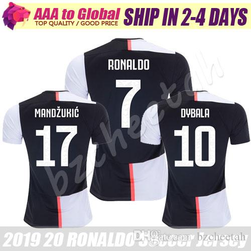 the best attitude 674d6 789f6 Paulo Dybala jersey 2020 Home JUVE RONALDO CHIELLINI CUADRADO MANDZUKIC  Shirts Soccer Wear Thailand Soccer Jersey Football Maillot