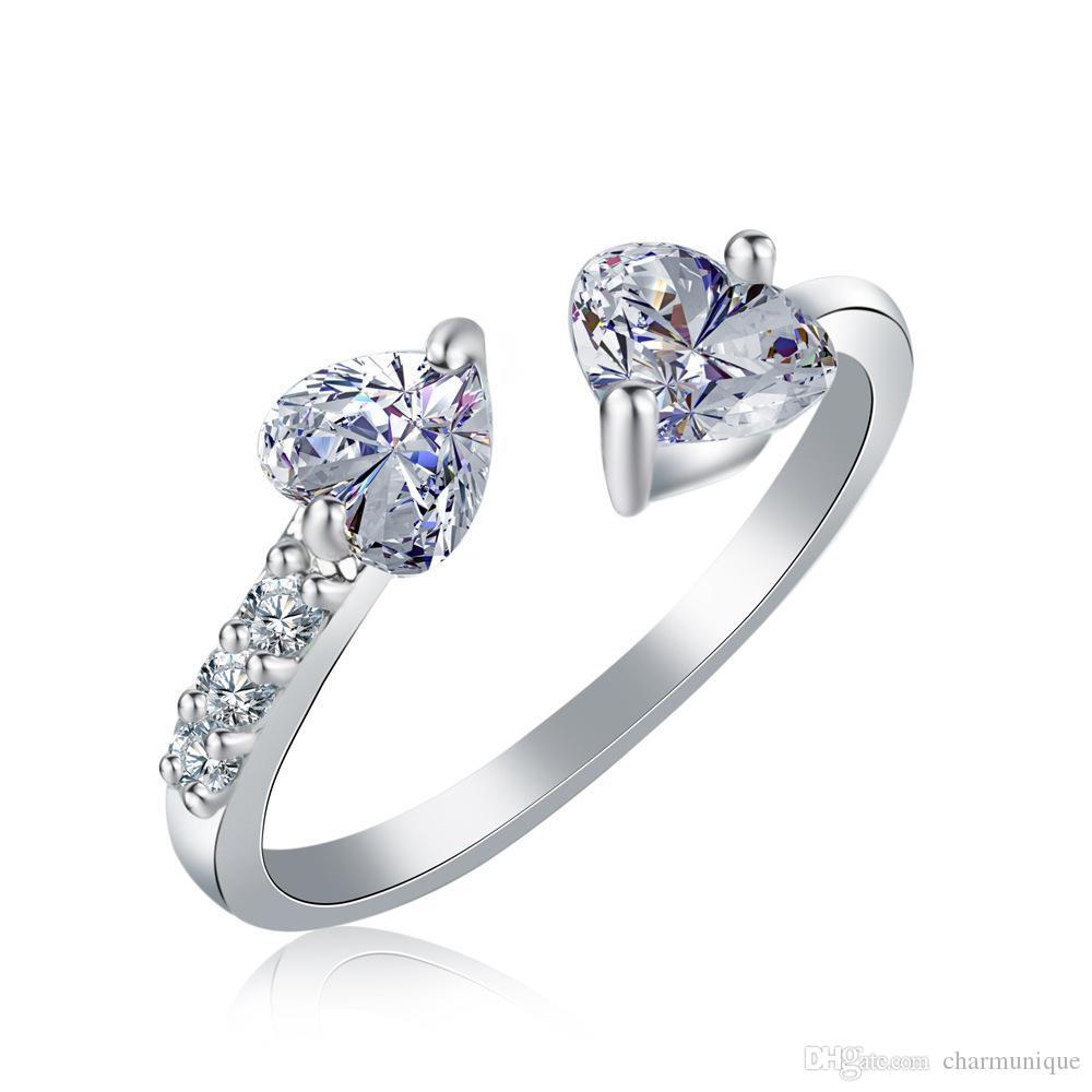 adc8f63458a8 Compre Anillos De Zafiro Anillos Joyas Plata Plata Circonio CZ Anillos De  Diamante Para Mujeres Con Piedras De Colores A  1.76 Del Charmunique