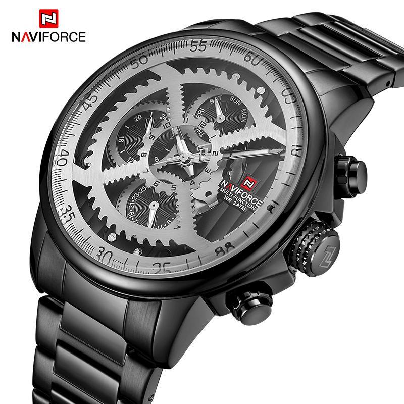 4c1b9339b6d Compre 2019 NAVIFORCE Top Marca De Luxo Homens Relógio De Negócios De Moda  Data De Quartzo À Prova D  Água Esportes Relógio De Pulso Para Masculino  Relogio ...