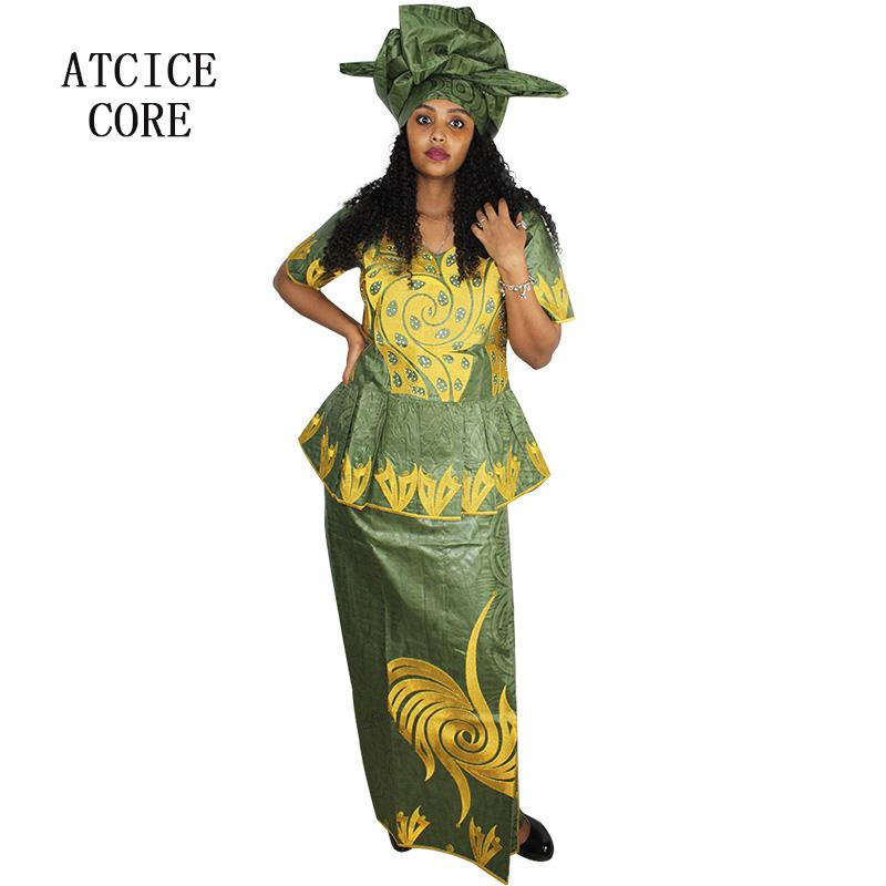 cd73258740828 2019 African Dresses For Women NEW FASHION DESIGN AFRICAN BAZIN RICHE  EMBROIDERY SHORT RAPPER Clothes DP 87# From Weikelai, $59.05 | DHgate.Com
