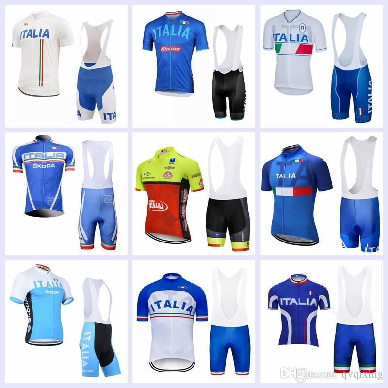 2019 TEAM ITALIA Bike Jersey Cycling Jersey Bibs Shorts Suits Ropa ... c0c40dc18