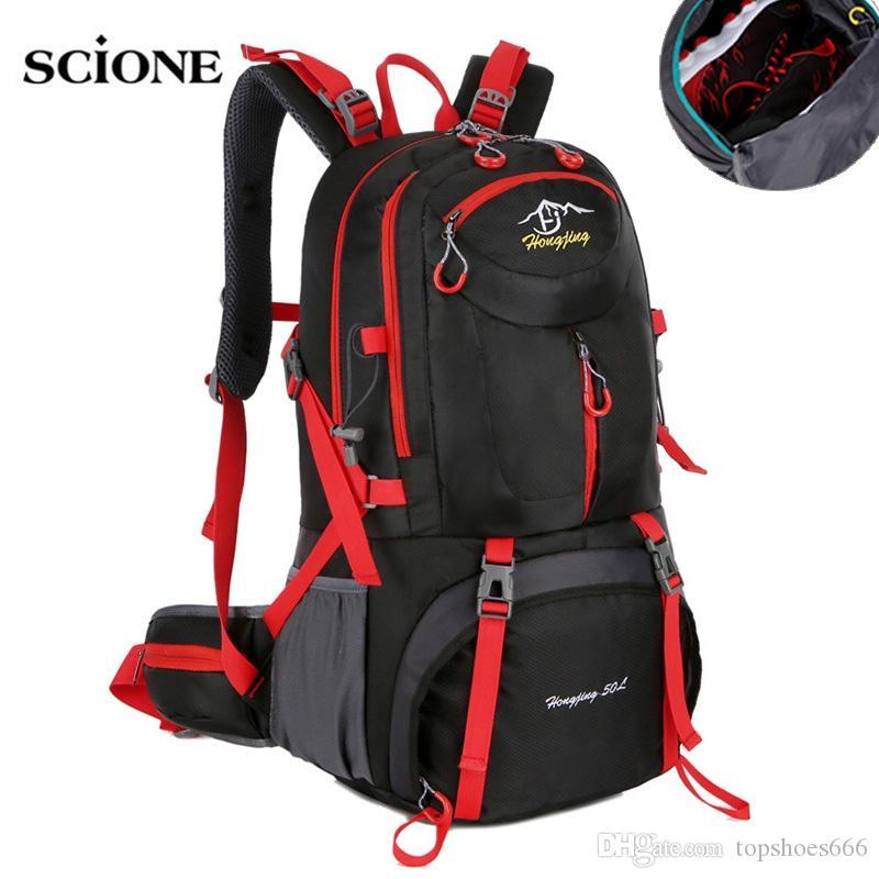 8e0dc10758 2019 Backpacks 40L 50L 60L Camping Hiking Backpack Bag Outdoor Sports Bags  Travel Men Climbing Rucksack Sac De Sport Mochila XA564WA  108903 From ...