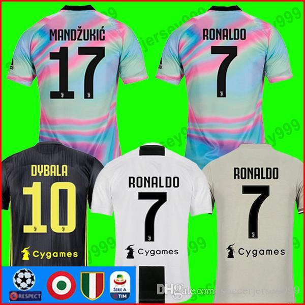 d5b46791d78 Thailand RONALDO 2018 2019 Juventus Soccer Jersey Football Shirt 18 ...