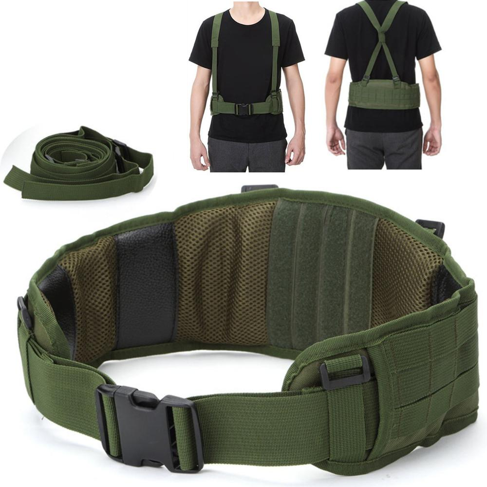Tactical Adjustable Nylon Girdle Belt Army Rappelling Vest Waistband  Wargame Outdoor Hunting Accessories