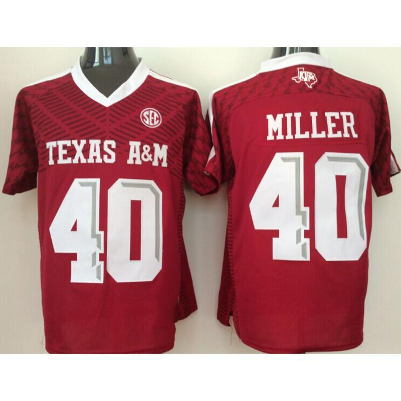 finest selection 42fc1 6a1cd Mens Texas A&M Aggie Von Miller Stitched Name&Number American College  Football Jersey Size S-3XL