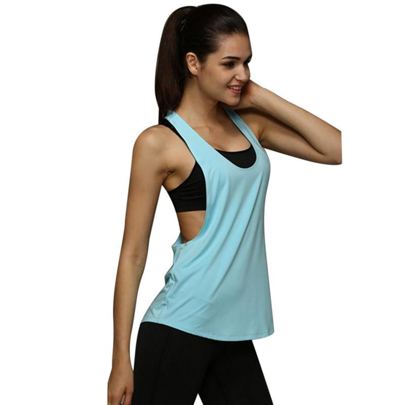 a585d89d42d Summer Sexy Sporting Women Tank Top Fitness Workout Tops Gyming Women  Sleeveless Shirts Sporting Quick Drying Loose Vest Online with  26.32 Piece  on ...
