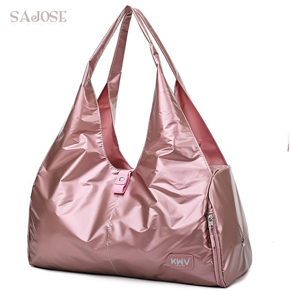 5afc04d91e Women Training Fitness Travel Handbag Stylish Outdoor Waterproof Nylon  Sports Gym Bags For Girls Casual Yoga Mat Bag Sac Sport Leather Purse  Leather Goods ...