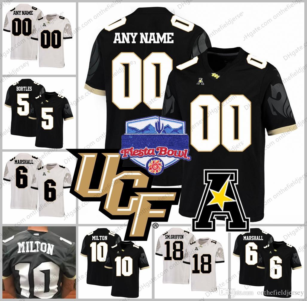 timeless design c3281 fad49 Custom UCF Knights Any Name Number #5 Blake Bortles 6 Brandon Marshall 10  McKenzie Milton 18 SM.Griffin 2018 Fiesta Bowl Football Jerseys