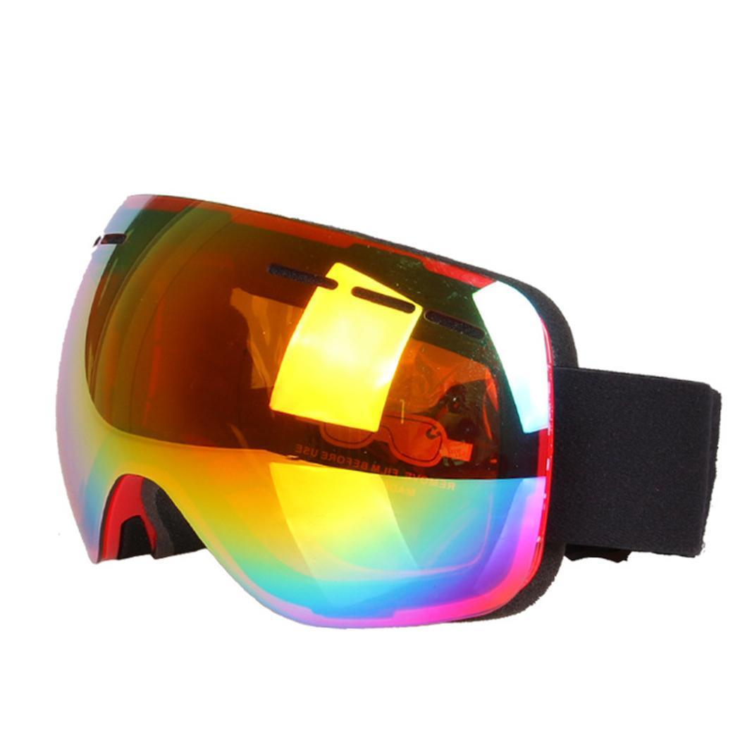 76c228ea63b 2019 Ski Unisex Double Layer Glasses White Anti Fog Blue Silver Lens Black  Windproof Red Goggles Pink Ski From Kuyee