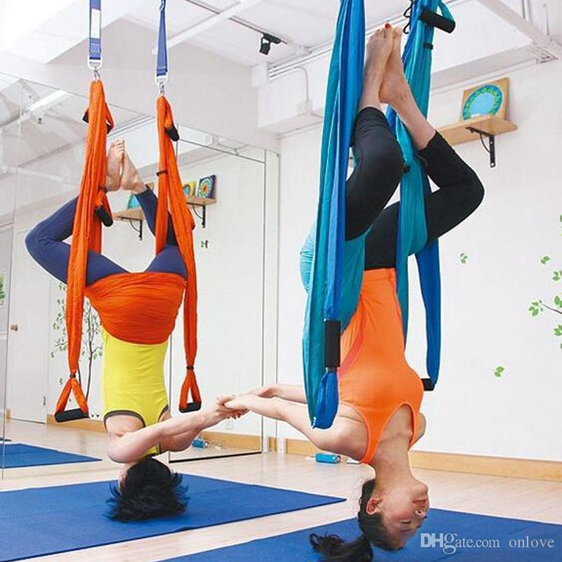 15 Color Yoga Hammock Upside Down Swing Anti-gravity Aerial Traction Yoga Harmark Fitness Strap Strength Decompression Swing Set XD22824