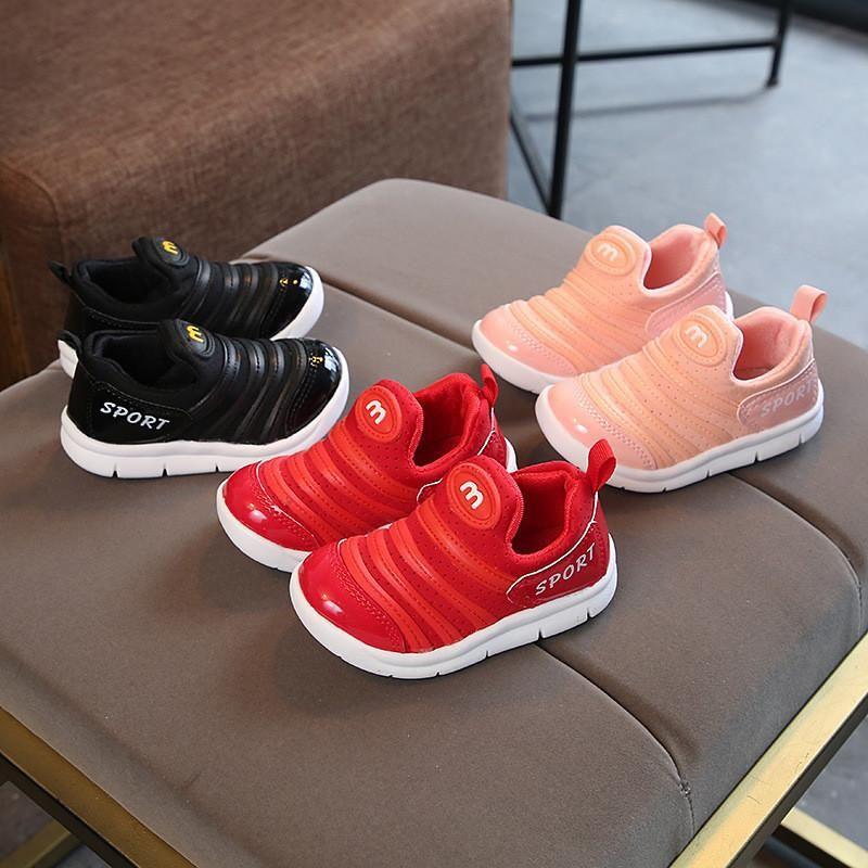 635fe6e07 Compre Zapatos Para Niños Zapatillas De Correr Para Bebés Botas Para Niños  Pequeños Niños Y Niñas Lana De Punto Calzado Deportivo Zapatos Deportivos  Para ...