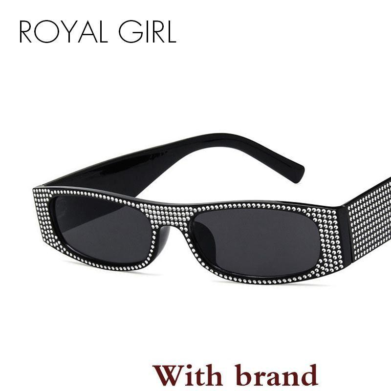 df2b3185a55 GIRL Vintage Square Sunglasses Women Small Imitation Diamond Eyewear Female  2018 Luxury Designer Sun Glasses Ss796 Custom Sunglasses Heart Shaped  Sunglasses ...