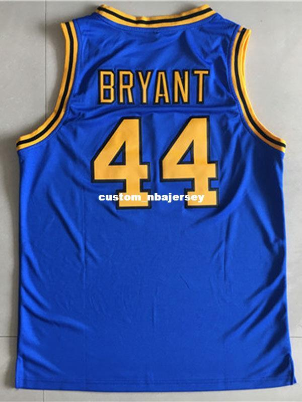 new arrival 5b40c 08233 Cheap wholesale Kobe Bryant Jersey 44 Crenshaw High School Blue Customize  any name number MEN WOMEN YOUTH basketball jersey