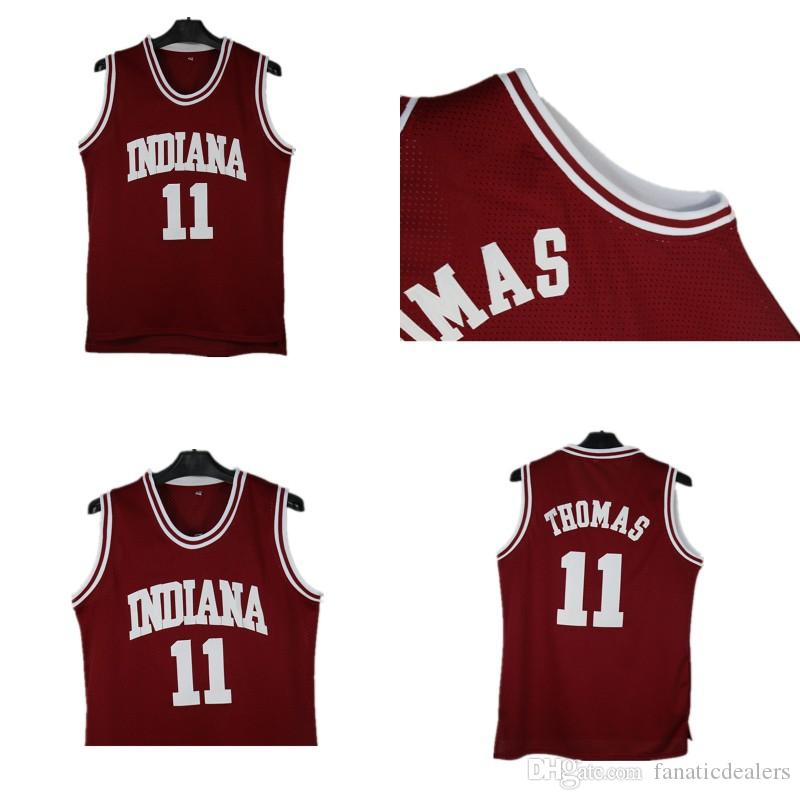 new concept 496ca 13371 INDIANA University NCAA Jersey 11 Isaiah Thomas Stitched Embroidery Men  Cheap Sport Basketball Jersey Free Shipping