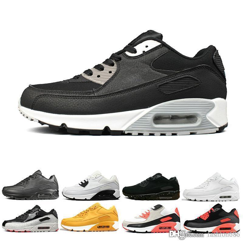 Nike Air Max 90 Hombres 2019 90 Off zapatos casuales Zapatillas de deporte Hombre Desierto Mineral Marrón Airing Diseñadores de moda Lujo Clásico 90s