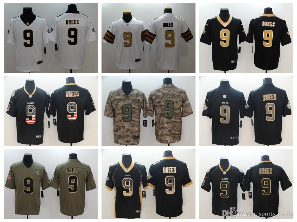 ... wholesale 2019 new mens 9 drew brees jersey orleans saints football  jersey 100 stitched embroidery drew b20c0c09c