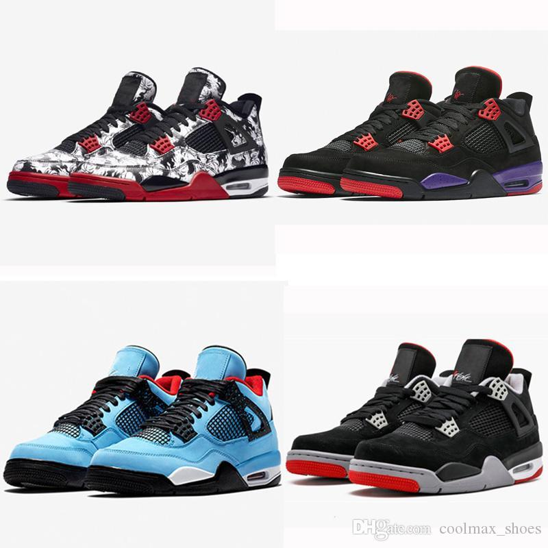 Fashion 4s Mens Basketball Shoes NRG Raptors New Designer Streets Look Portable Sport Sneaker With Shoebox