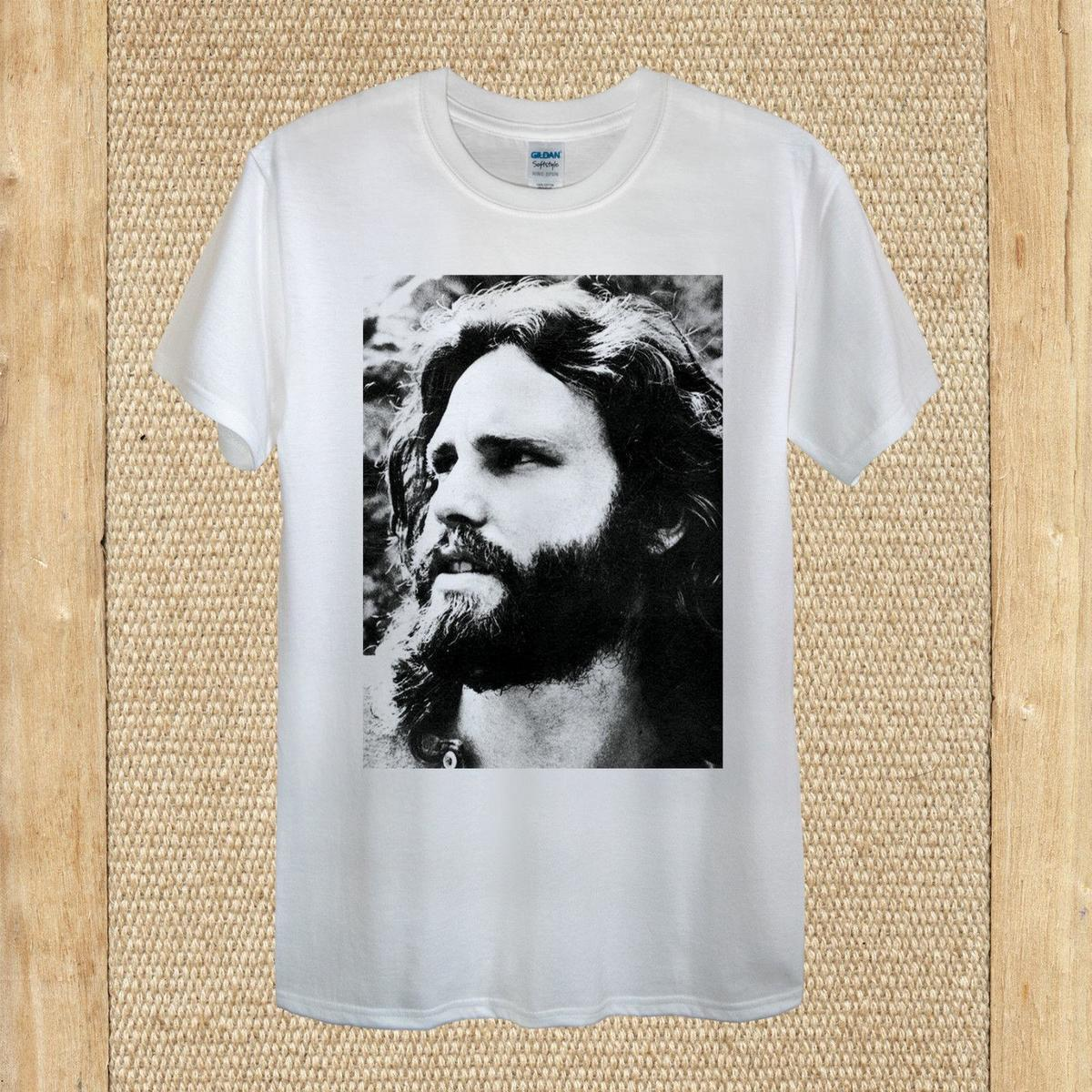 "James Douglas ""Jim"" Morrison The Doors T-shirt 100% cotton unisex women"