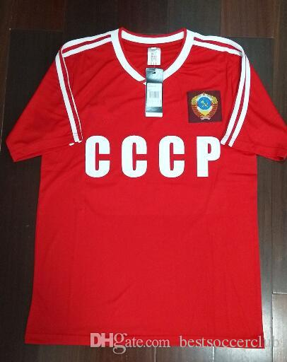 a129f8e77 2019 86 87 Retro USSR Home Red Shirt CCCP Soviet Union Igor Belanov Soccer Jersey  1986 1987 USSR Vintage Classical Football Shirts From Bestsoccerclub