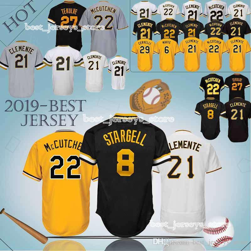 8043a82c56f ... shop 2019 pittsburgh pirates jerseys 8 stargell majestic 29 francisco  cervelli 27 kent tek 21 roberto
