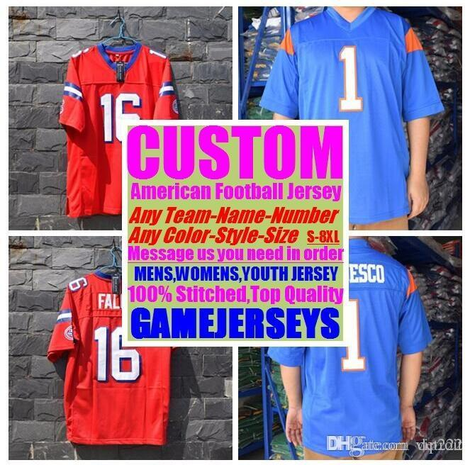 pretty nice bb039 3a600 2019 Customized american football jerseys college cheap authentic sports  jersey stitched mens womens youth kids 4xl 5xl 6xl 7xl top quality