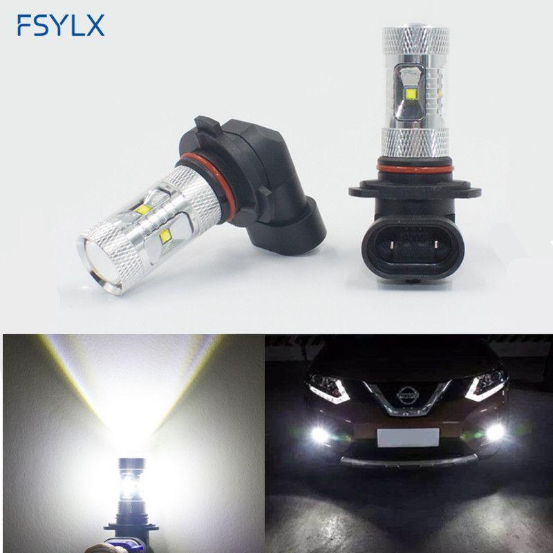 2x White 7000k 10w 12v H8 Led Bulb White Color H11 Led Fog Lamp Bulb Car Parking Styling Accessories Kits Led Driving Lighting Car Fog Lamp Car Lights