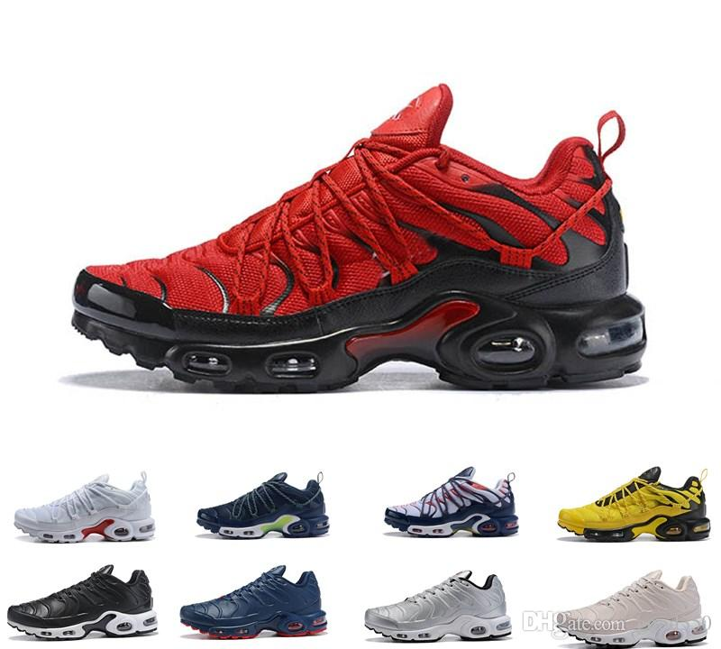 buy popular bf491 fddd0 2019 Top Air Champagnepapi Mercurial Plus Tn Ultra SE Black White Orange  Running Shoes Plus TN Shoe Women Men Trainers Sports Sneakers 40 46 Kids  Running ...