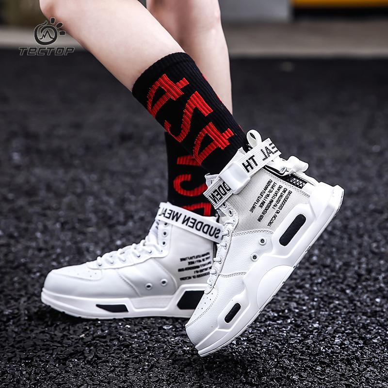 los angeles 221f4 ba54f TECTOP Herbst Neue Hip Hop Style Reißverschluss Mode Erhöhte Paare Schuhe  Trend Wilde High-top Wanderschuhe