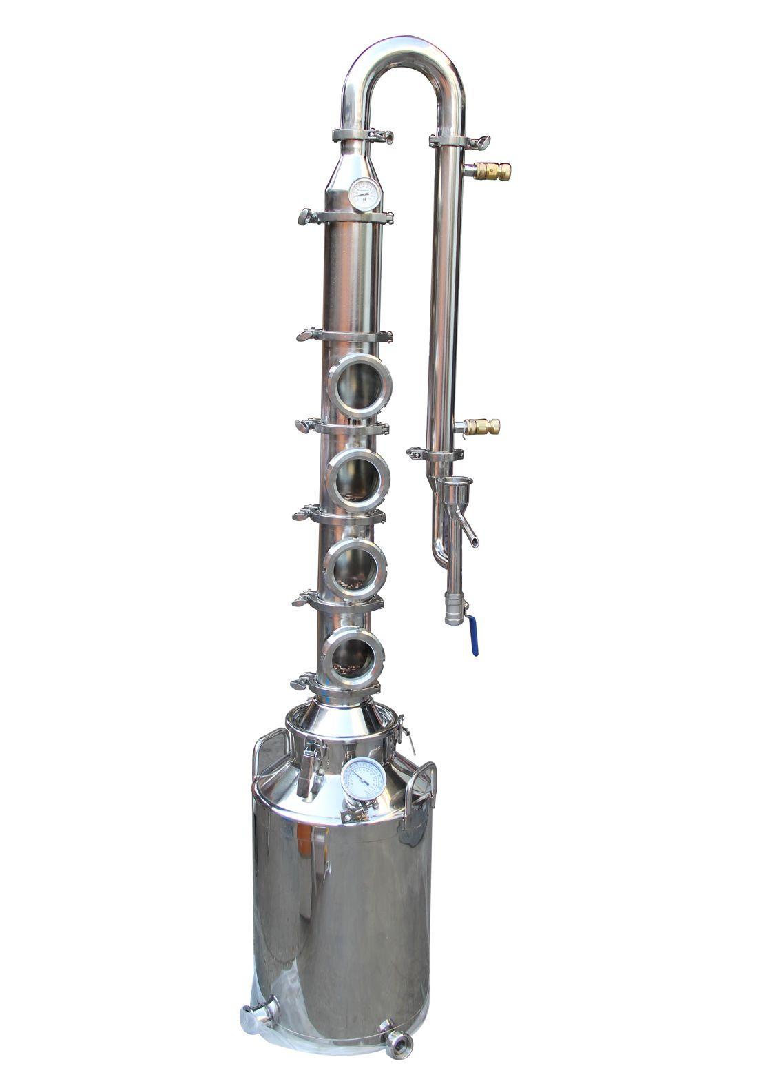 50L/100L\200L stainless steel 304 distillation column Home alcohol distiller/Small distillation equipment/Moonshine alcohol distillery