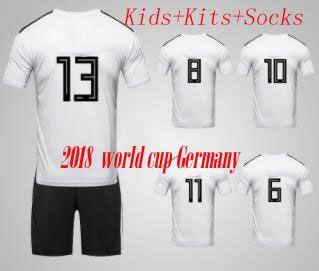 Compre 2018 Copa Do Mundo Para Casa Away Crianças Camisas De Futebol  Alemanha Muller Reus Ozil Futbol Camisa De Futebol Camisetas Deutschland  Camisa Kit ... 11b3eeed7d938