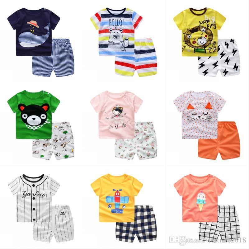 5b7c8d5b054 Infant Plaid Tops Short Pants Suits Newborn Baby Boys Clothes Set Baby  Cartoon Shirt + Pants Sets Baby Boy Clothes Set Infant Plaid Tops Pants Set  Baby ...