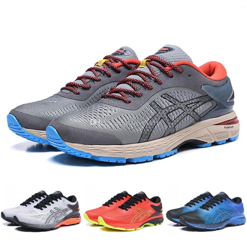 fe813ffcb 2019 New Asics GEL KAYANO 25 Men Running Shoes Black Orange Yellow Red  Berlin Original Men Women Designer Sport Sneakers 37 45 From Strive1616