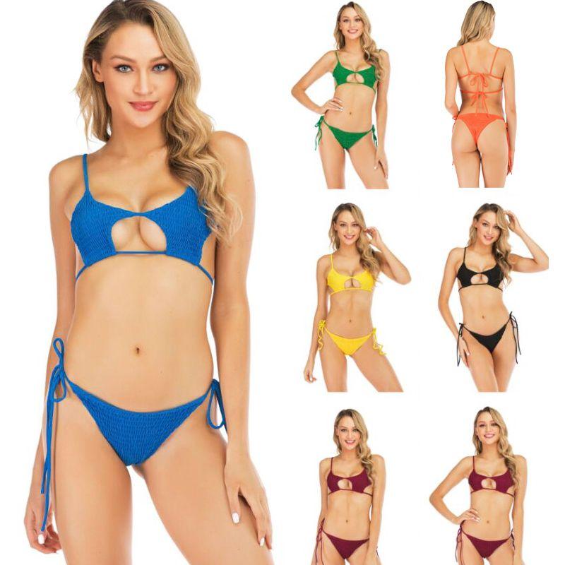 Couleur Acheter Bain Bikini Maillot De Sexy Unie Y6gy7ifvb Femme 9HEIDW2