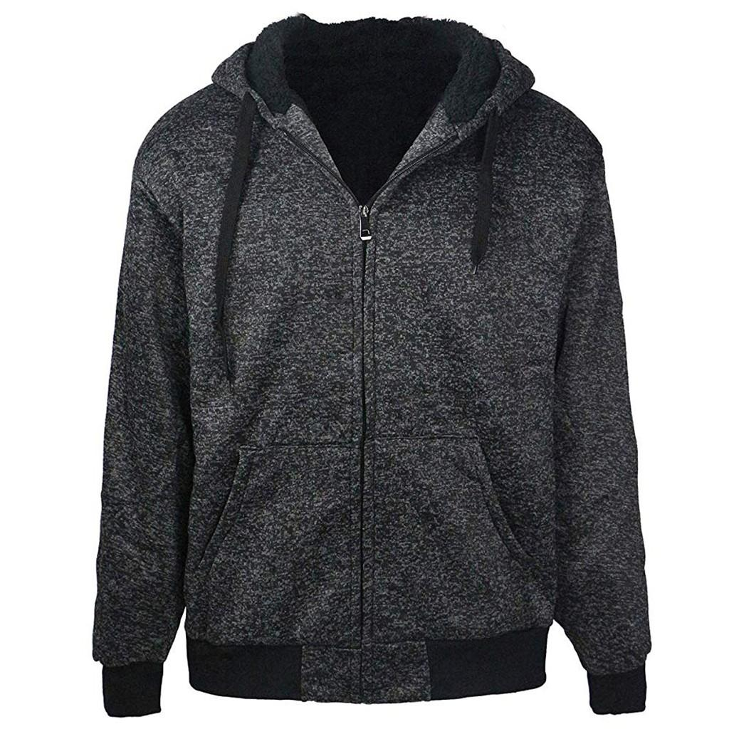 dc4ba3234 2019 Womail 2018 Mens Hoodie Winter Warm Fleece Zipper Sweater Jacket  Outwear Coat Tops Blouses Men Fashion Blouse M301128 From Ceciliasa, $45.41  | DHgate.