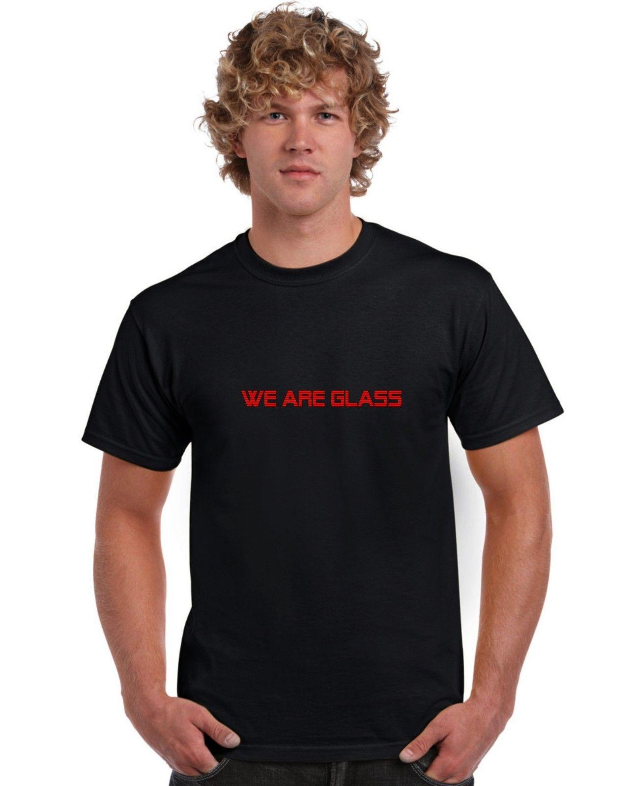 2eb43a0371819 We Are Glass T Shirt Gary Numan Tubeway Army Funny free shipping Unisex  Casual