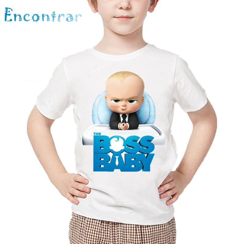 519b41f5 2019 Kids The Boss Baby Print Funny T Shirt Children Summer Short Sleeve  White Tops Boys And Girls Cartoon T Shirt,HKP5192 From Victorys07, $22.63 |  DHgate.