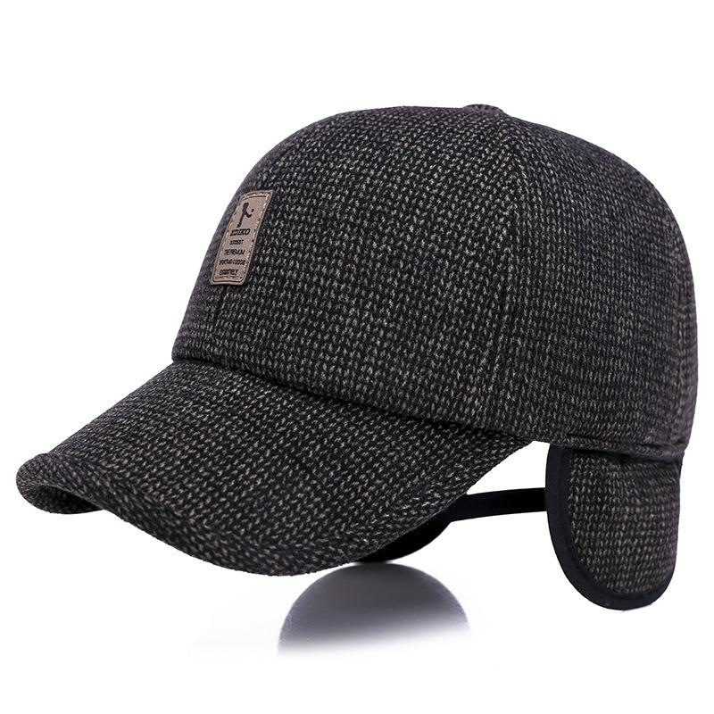 4e5946022d8 New Men S Baseball Cap Outdoor Korean Version Of The Middle Aged Thick Warm  Earmuffs Wild Casual Duck Tongue Hat Make Your Own Hat Basecaps From  Wzflove