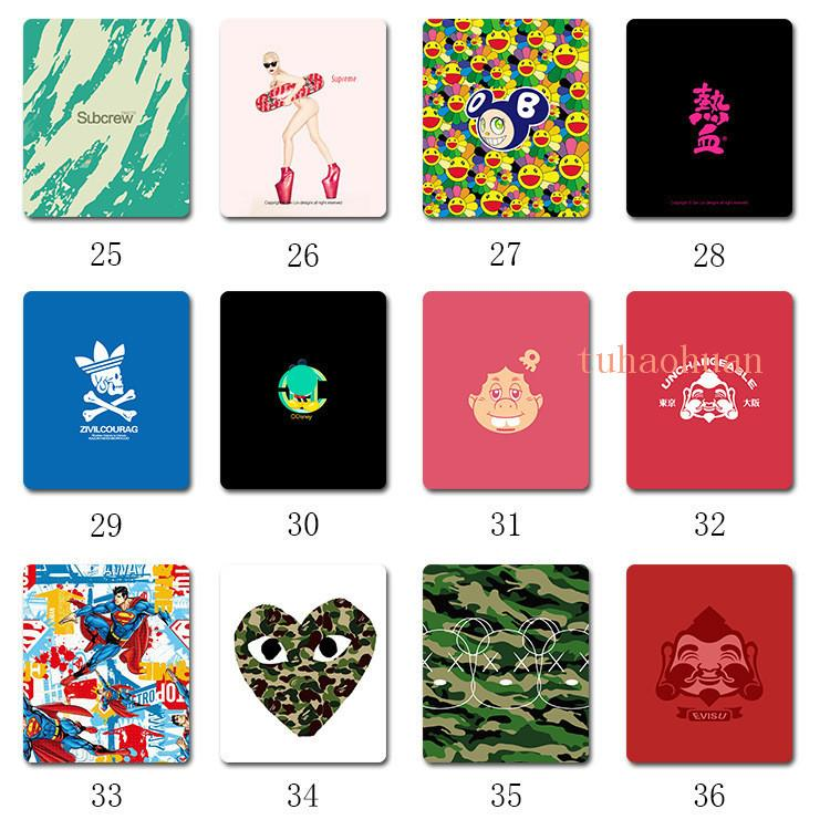 Fashion Printed Letters Computer Mouse Pad Custom Creative Non-slip Rubber Pad Natural Rubber Multifunctional Pad Free