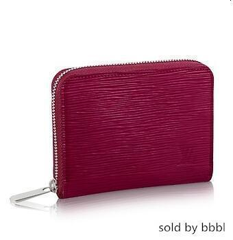 M60383 ZIPPY COIN Water ripple new Real Caviar Lambskin Flap Bag LONG Chain WALLETS KEY CARD HOLDERS PURSE CLUTCHES EVENING