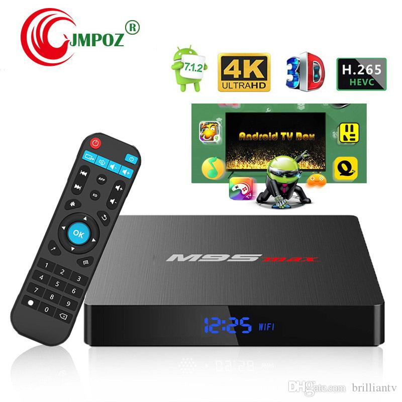 Hot M9S MAX Android 7.1 TV Box Amlogic S905W Quad Core 2GB RAM 16GB ROM Android7.1 4K H.265 Streaming Media Player 2.4G Wifi with Display