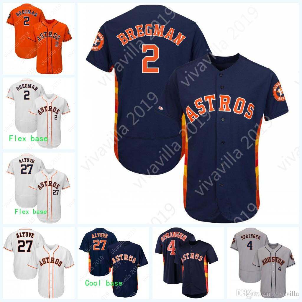 191d88e6a 2019 2 Alex Bregman 27 Jose Altuve 150th Anniversary Patch Houston George  Springer Justin Verlander Carlos Correa Astros Baseball Jerseys Shirt From  ...