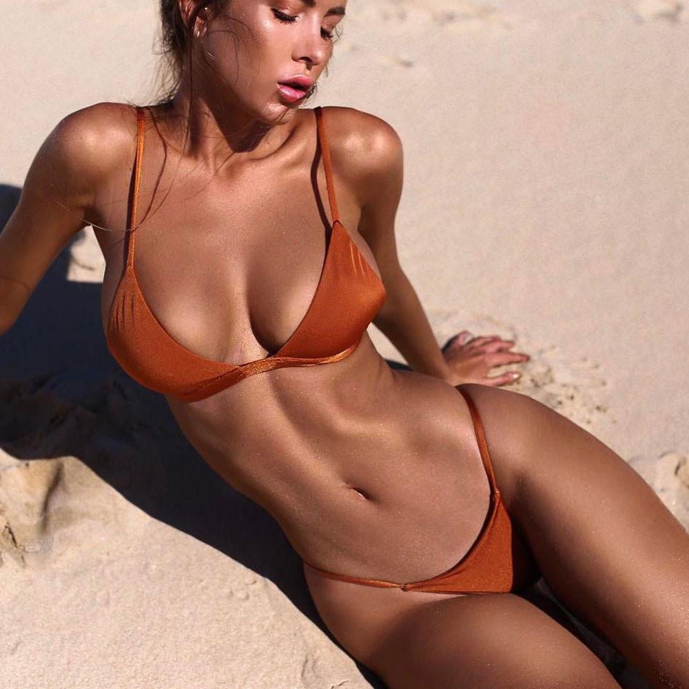 Damen Bikini Set Bademode Push Up Gepolstert Zweiteiligen Beachwear Schwimmanzug