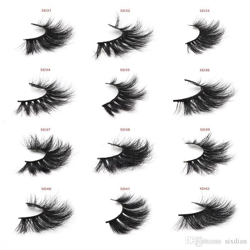 06571aae617 2019 New 3d Mink Eyelashes 25MM 5d Mink Eyelash Thick Long Dramatic False  Eyelashes Wispy Lashes Volume Lashes Mink Lashes Eyelash Extension False  Lashes ...