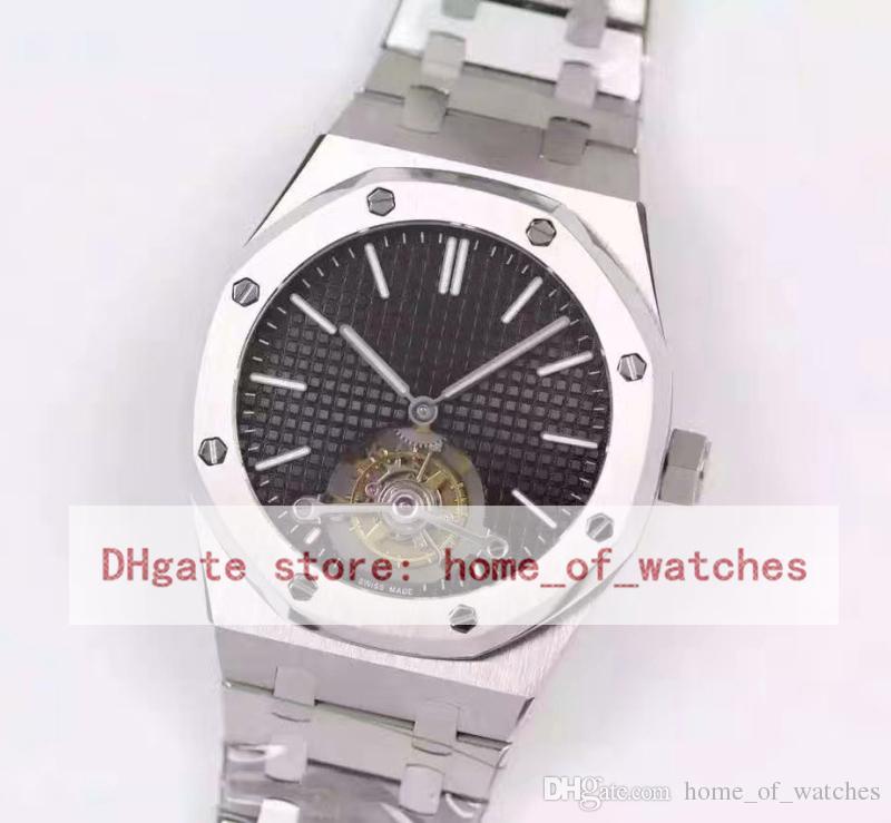 4a3186e9de9 Compre Relógios De Luxo Tourbillon Para Homens JF Top Level 26510 Cal.2924  Mão Liquidação Relógios Mecânicos Mens 41mm Royal Oaks Aço Relógios De  Pulso De ...