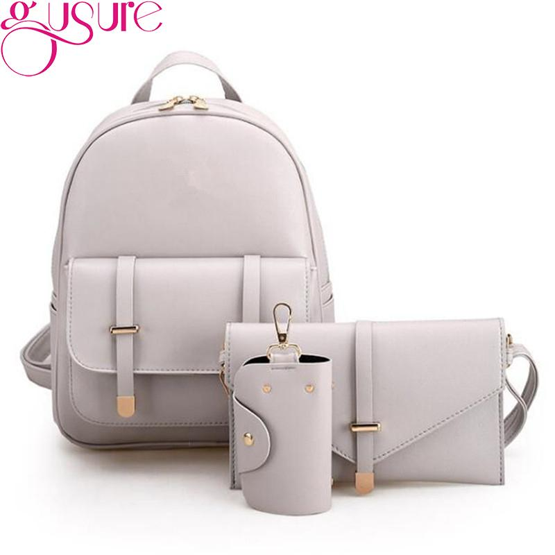 68ee88488ae5 Gusure Women Backpacks Bags For Teenagers Girls Daypack PU Leather ...