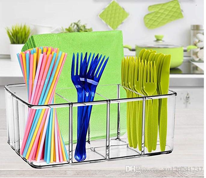 Bath Caddies & Storage Drawer Organizer Makeup Bathroom Storage 5 Section Tray Acrylic Holder Kryllic Online Discount Home & Garden